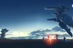 Muv-Luv_Mech Flight
